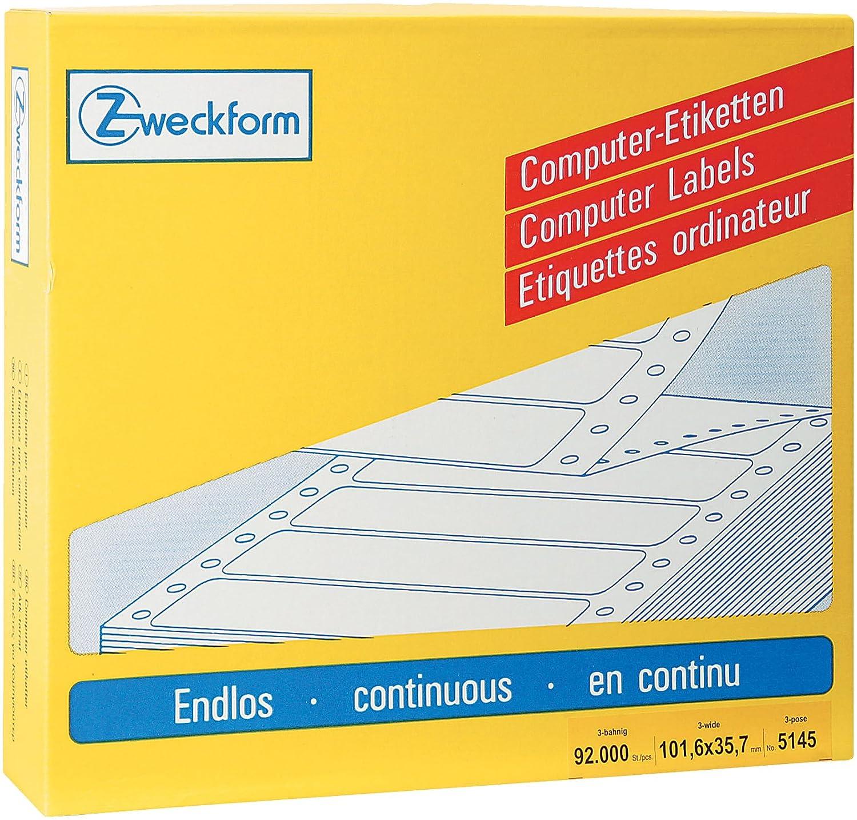 Avery Zweckform 5145 Universal-Etiketten, 101,6 x 35,7 mm, 1 Pack 12.000 Etiketten, weiß