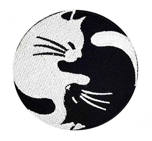 Yin Yang Gato equilibrio Yin y Yoga símbolo Hippie Patch ...