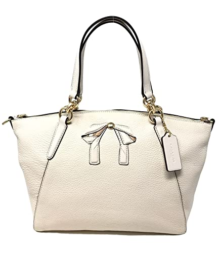Image Unavailable. Image not available for. Color  Coach Small Kelsey  Satchel With Bow Chalk Pebble Leather Bag F28969 8cbf85e29d