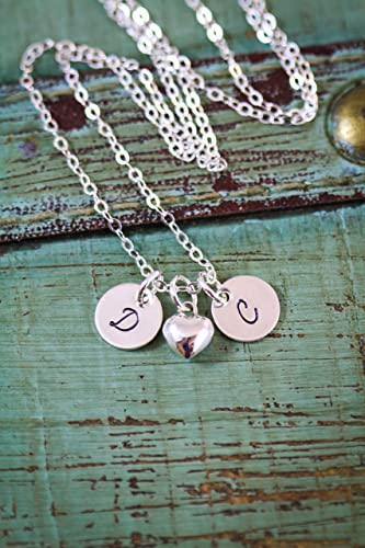 8996ae5f0d70c Amazon.com: Personalized Initial Necklace – ROI - Dainty Heart Charm ...