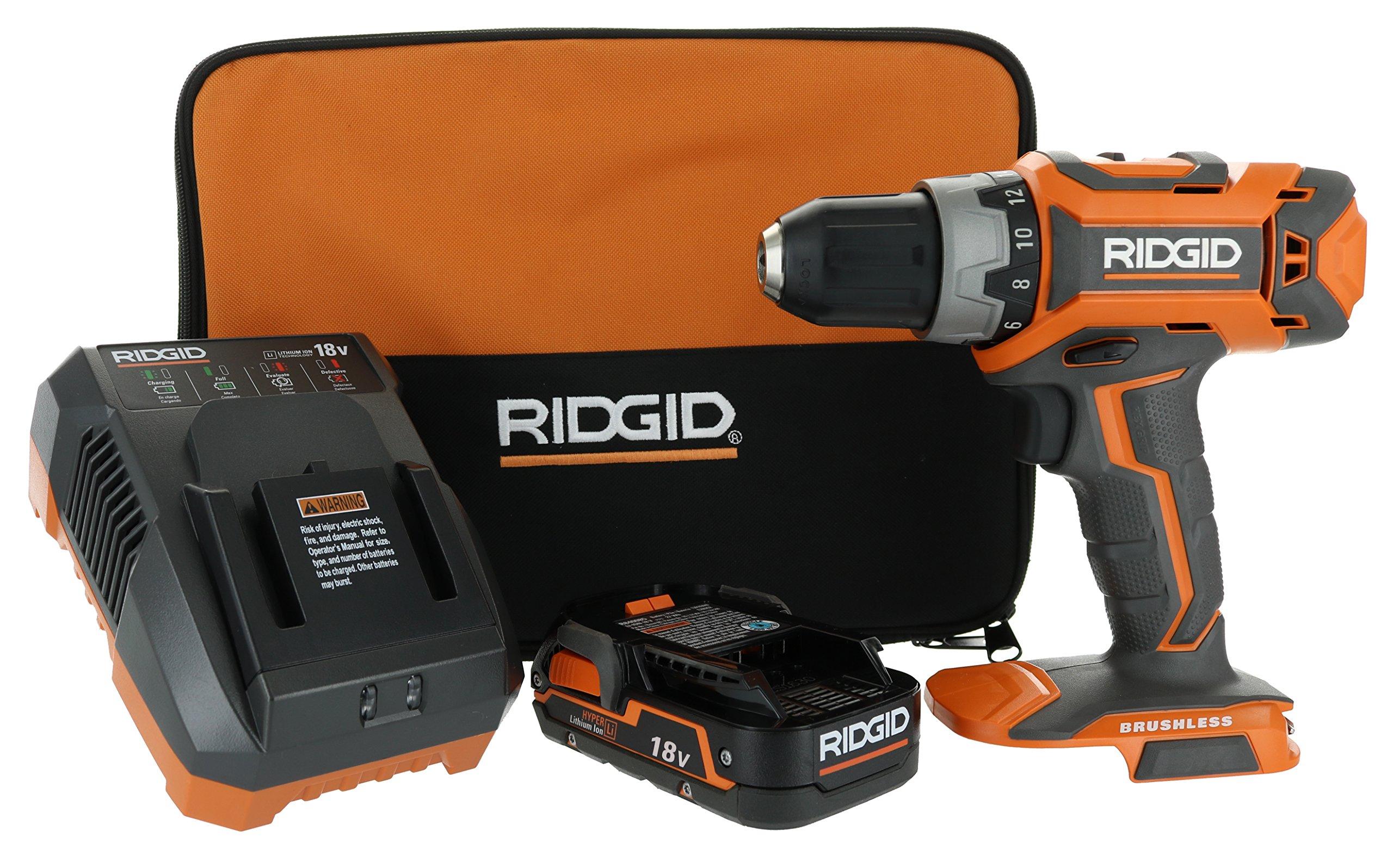 Ridgid  Gen5X 18V Lithium Ion Cordless Brushless 1/2 Inch 2 Speed Drill Driver Combo Kit