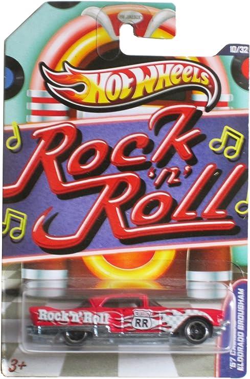 2012 Walmart Jukebox #10 /'57 CADILLAC ELDORADO BROUGHAM∞Red∞Rock Roll∞Hot Wheels