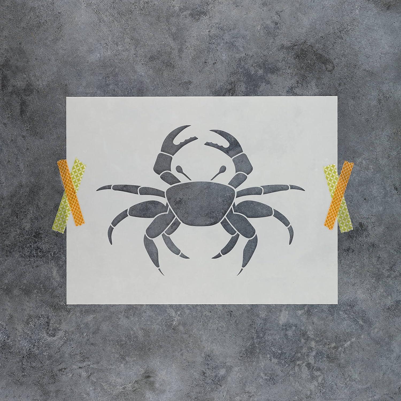 Cangrejo Stencil Plantilla – reutilizable plantilla con múltiples tamaños disponibles, 30,5 x 30,5 cm