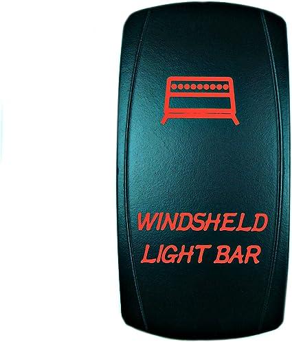 5 Pin RED LED FOG LIGHTS Laser Rocker Switch ON-OFF Light 20A 12V Universal