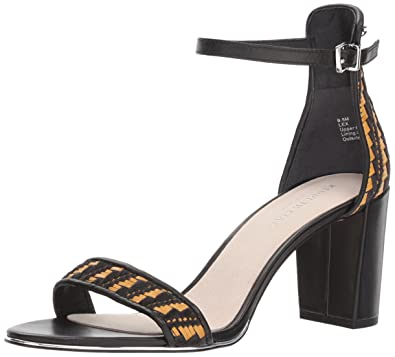 33837355d3 Kenneth Cole New York Women's Lex Block Heel Dress Sandal Heeled,  Black/Natural,