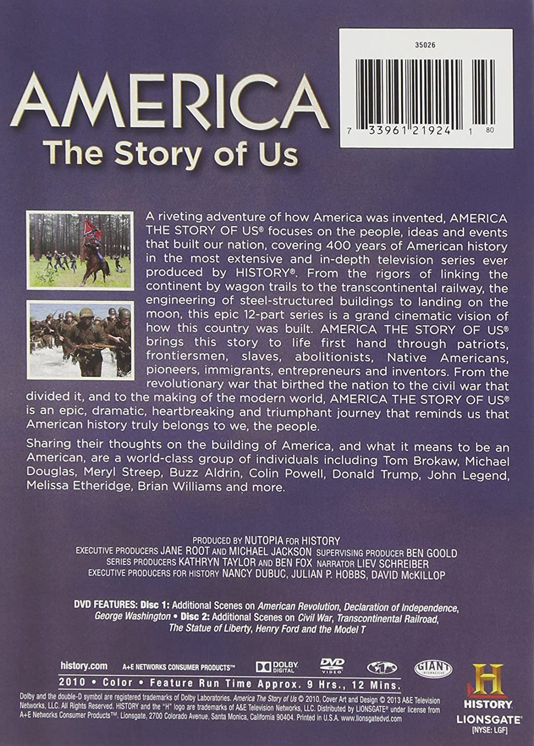Amazon Com America The Story Of Us 3 Disc Collection Dvd