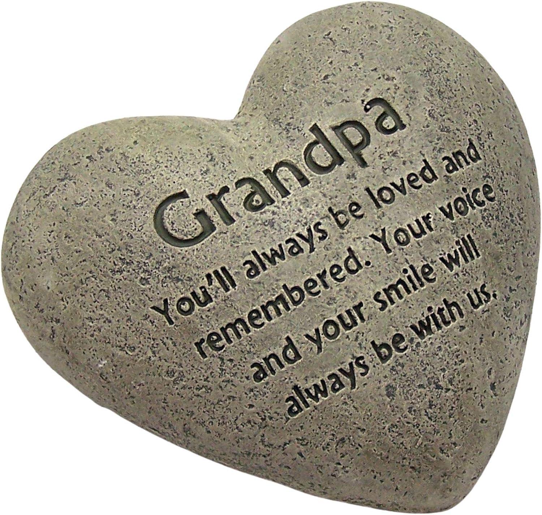 The Gerson Companies Heart Shaped Memorial Stone (Grandad)