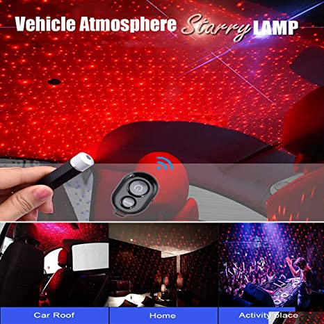 Owfeel Roof Star Projector Lights Romantic USB Night Light Adjustable Flexible Car /& Home Ceiling Decoration Light for Birthdays Festive Celebration Parties Car Atmosphere Lamp