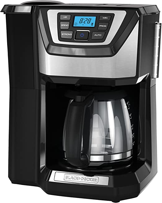 Black+Decker CM5000B - Cafetera (Independiente, Negro, Plata ...