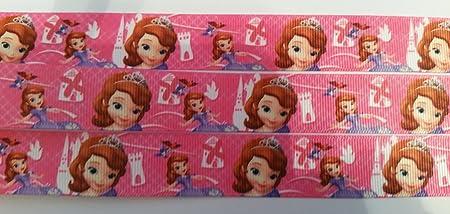 1 meter of Disney Princess Character 25mm Grosgrain Ribbon Card Making or Bows