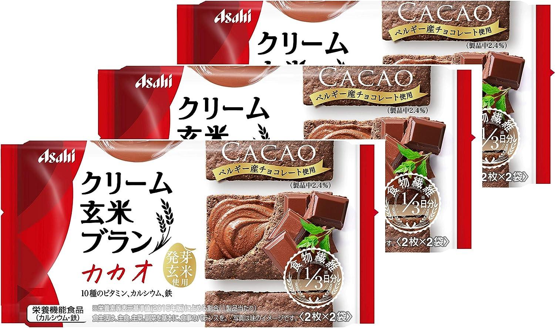 【アサヒグループ食品】クリーム玄米ブラン カカオ 72g×3袋