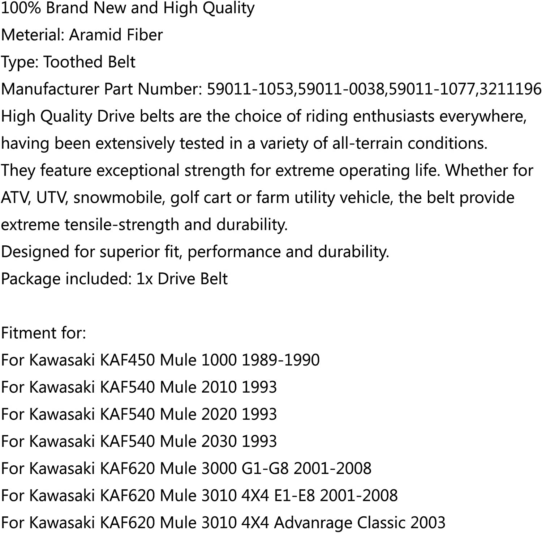 Areyourshop 59011-1053 Courroie dentra/înement pour Kawasa-ki KAF540 Mule 2010 KAF620 Mule 3010 3020 4010
