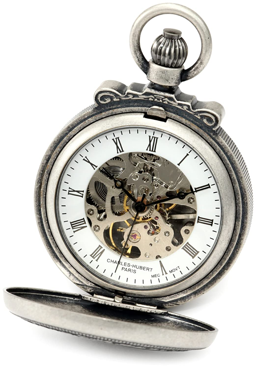 Amazon charles hubert paris 3866 s classic collection amazon charles hubert paris 3866 s classic collection antiqued finish double hunter case mechanical pocket watch charles hubert paris watches jeuxipadfo Image collections