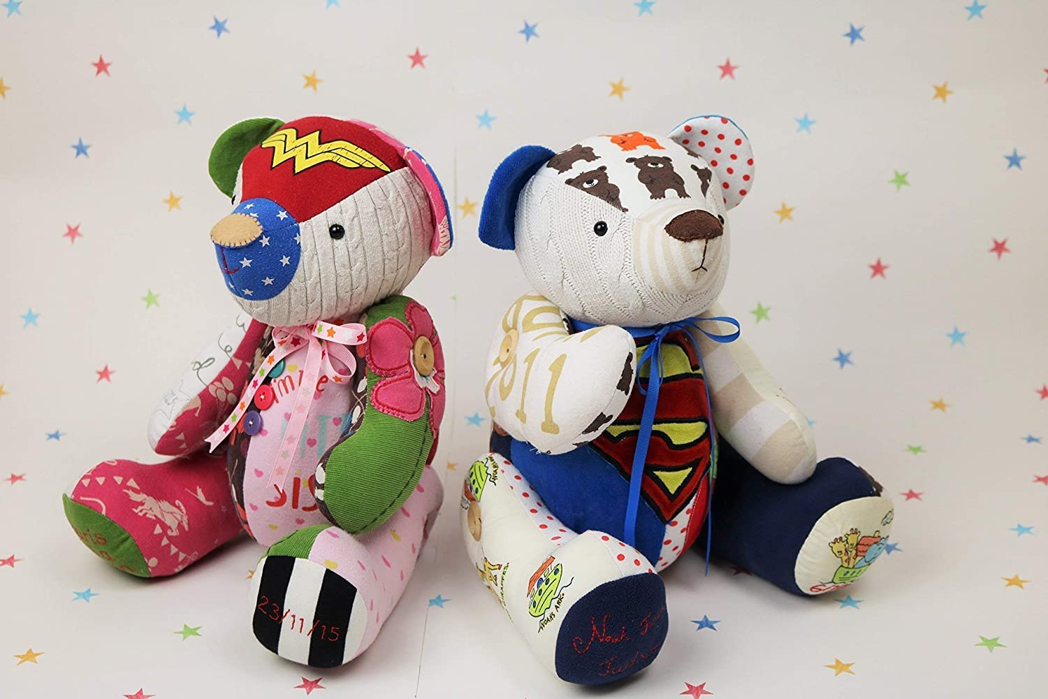 Memory Bear Sewing Pattern - Keepsake Bear Sewing Pattern, Button jointed teddy bear pattern, teddy bear made from clothes pattern, baby clothes teddy bear pattern
