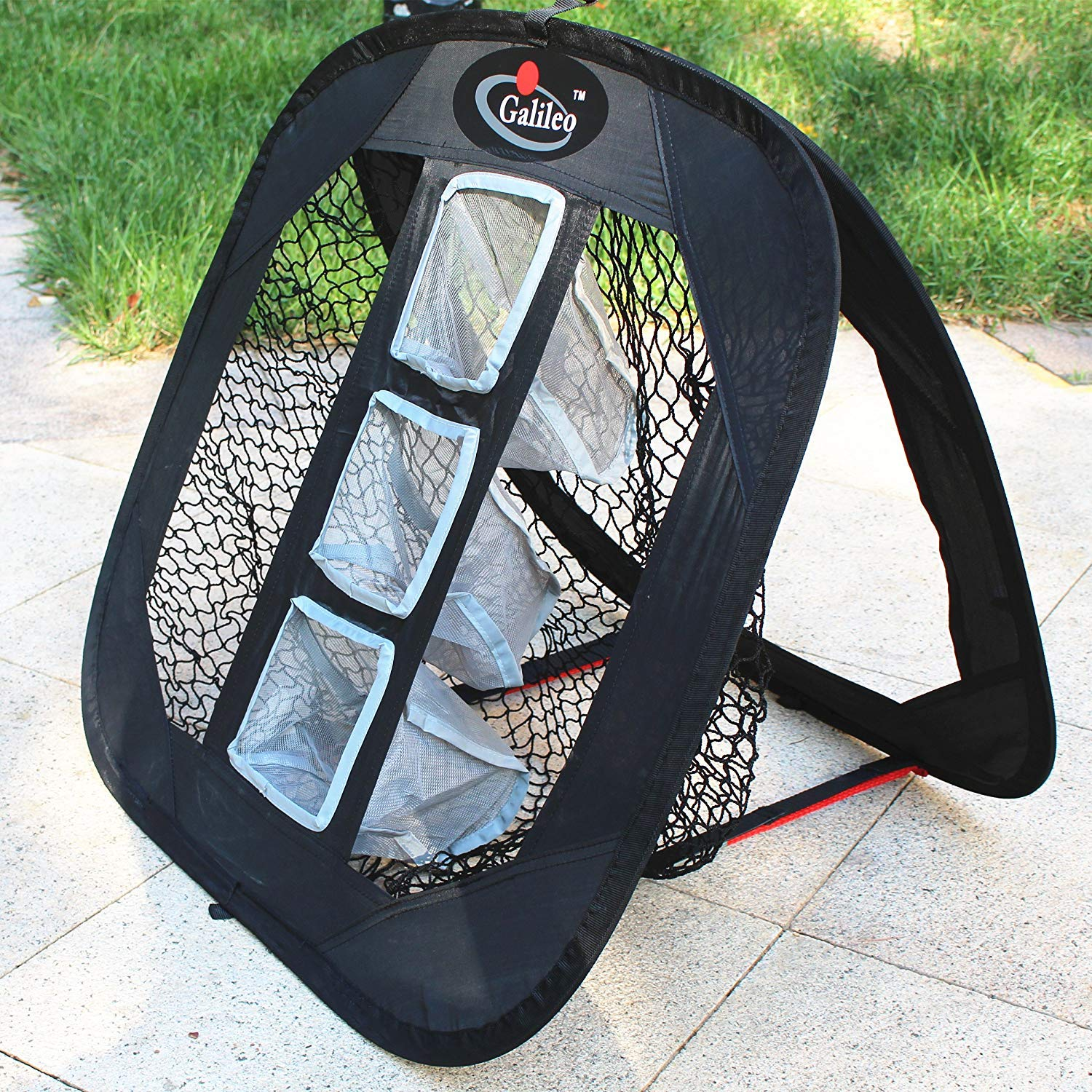 Galileo Golf Chipping Net Practice Driving Training Nets with Target Square Hitting Aid