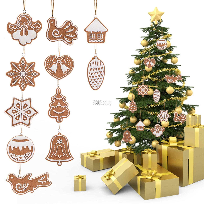 Amazon Wooden Christmas Pendants Animal Snowflake Cookies Art