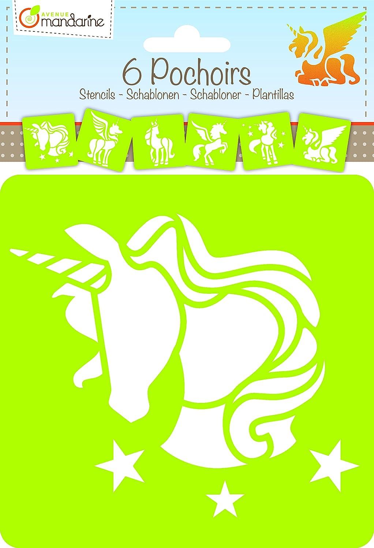 6 Schablonen Einhorn Motive - Bastel Schablone: Amazon.de: Garten