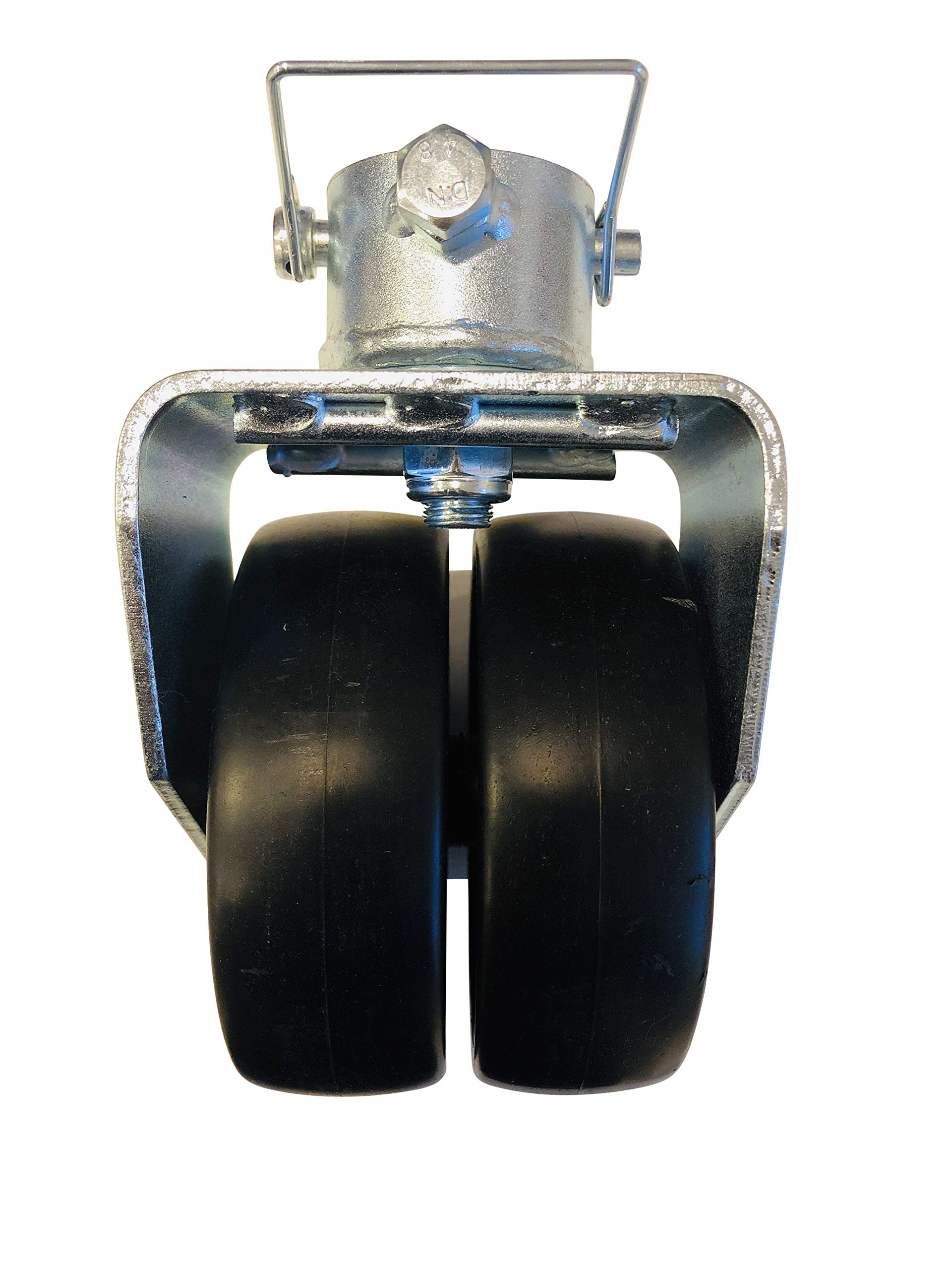 Professional EZ Travel Collection Reinforced Double Wheel Trailer Jack Caster with Pin (2000 Pound Rated) by Professional EZ Travel Collection