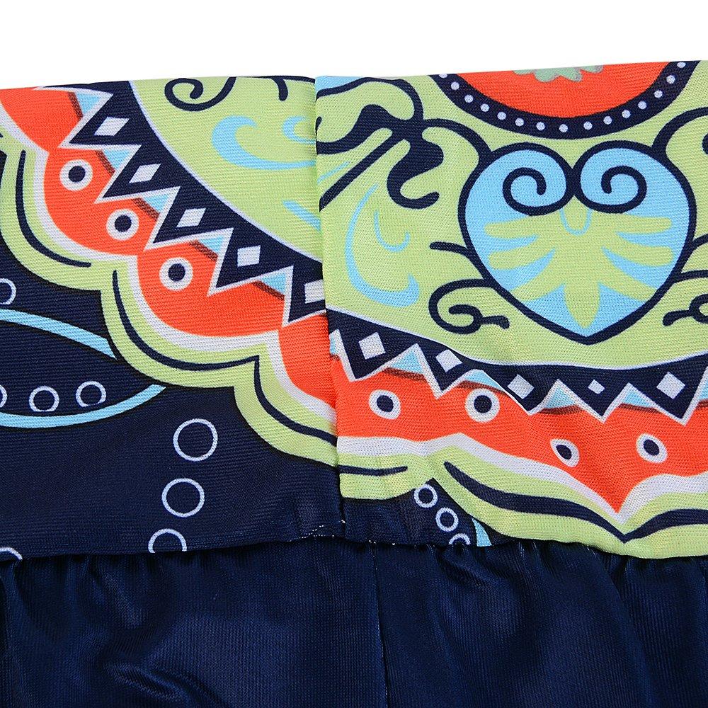 Dihope Femme Sarouel Pantalon Imprimé Longue Bouffant Palazzo Casual Hip-hop  Pants pour Yoga Fitness 8e946856ca9