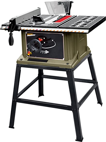 Shopseries rk72401 13 amp 10 table saw with stand power table shopseries rk72401 13 amp 10quot table saw with stand greentooth Image collections