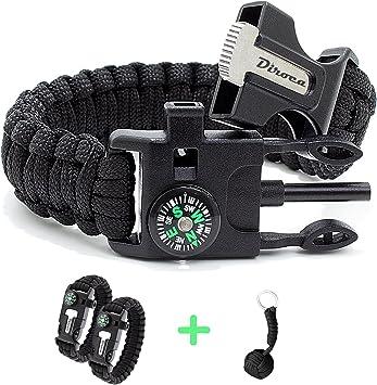 20X Parachute cord Survival Bracelet with metal clips I2W7