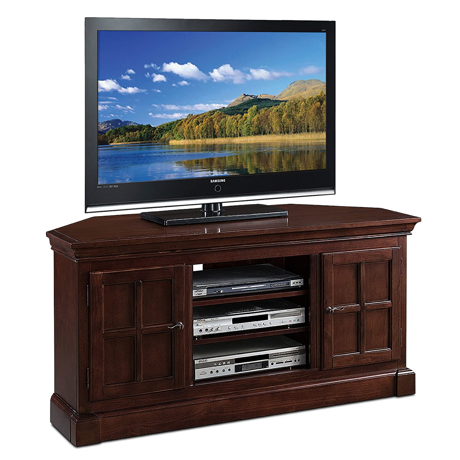 Attirant Amazon.com: Leick Bella Maison Two Door Corner TV Stand, 52: Kitchen U0026  Dining