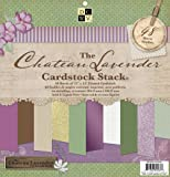 Die Cuts with A View 12-Inch by 12-Inch Solid Cardstock Stack, Chateau Lavender
