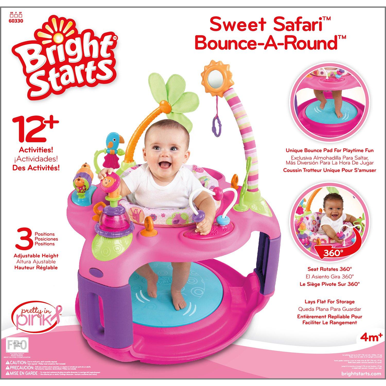Bright Starts Sweet Safari Bounce: centre d'activités rond pour bébé