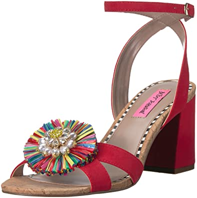 3fc42041663 Betsey Johnson Women s ASHA Heeled Sandal red Multi 10 ...