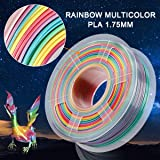 SUNLU Rainbow PLA Filament 1.75mm 3D Printer
