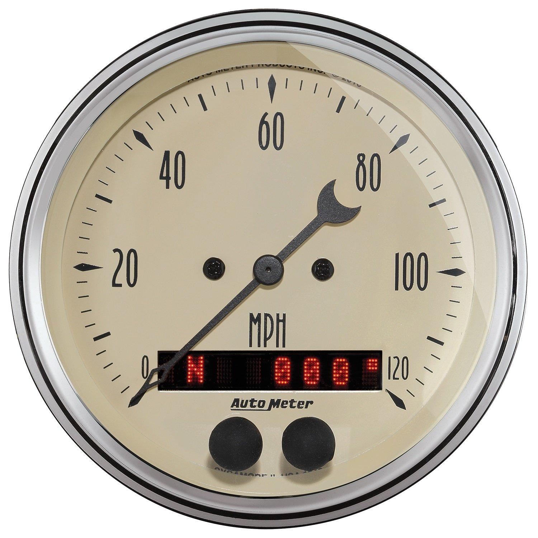 Auto Meter (1849 Antique Beige 3-3/8'' 120 MPH GPS Speedometer Gauge by Auto Meter