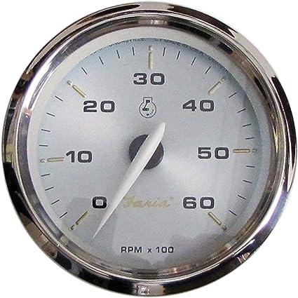 Faria Kronos 39004 Drehzahlmesser 6000 U Min Gas 10 2 Cm Auto