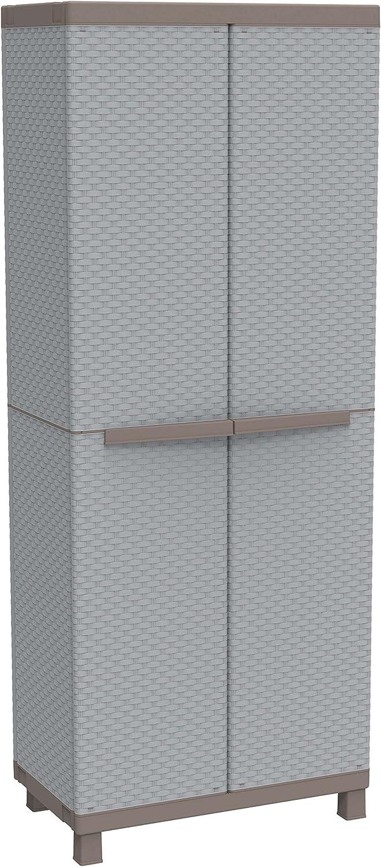 Terry - Armario ratán exterior, 68 x 39 x 170 cm