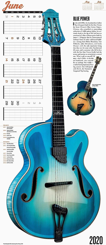 Guitars Calendario de pared 2020 [12 x 14 pulgadas]: Amazon.es ...