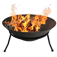 Gardeco EMRYS-60 60 cm Diameter Emrys Cast Iron Fire Bowl - Black