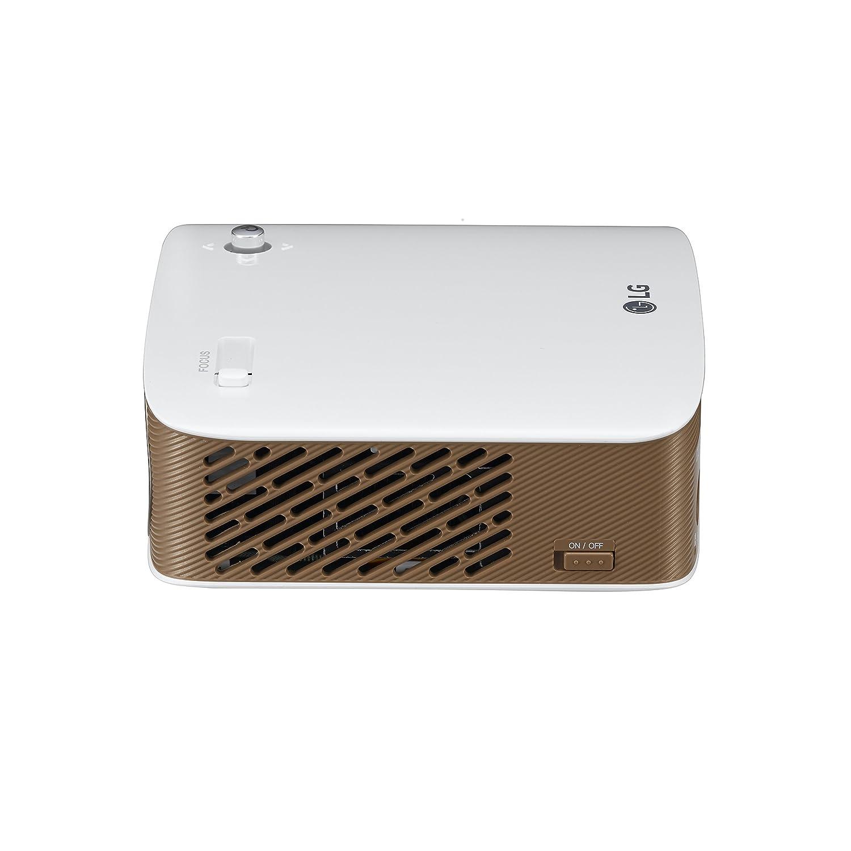 Lg minibeam nano 130 lumen hd lcos pico projector ph150g b amp h - Lg Ph150g 130 Ansi Lumen Lcos 720p 1280 X 720 Portable Projector Gold Wei Beamer Amazon De Heimkino Tv Video