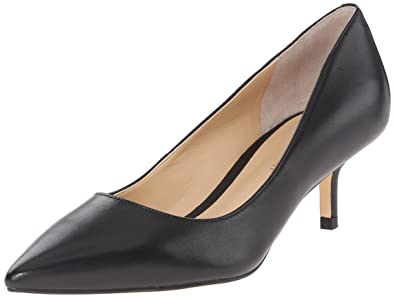 Ivanka Trump Women's Athyna Dress Pump, Black Leather, ...
