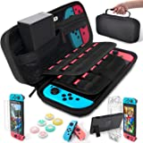 Daydayup Nintendo Switch Accessories Bundle Kit Case for Nintendo Switch 9 in 1 Pouch Switch Cover Case HD Switch Screen Prot