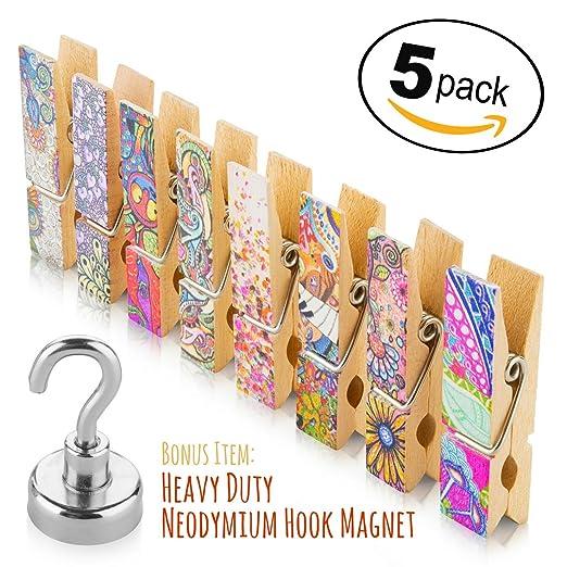 Juego de imanes para nevera (5 paquetes) – 8 clips magnéticos ...