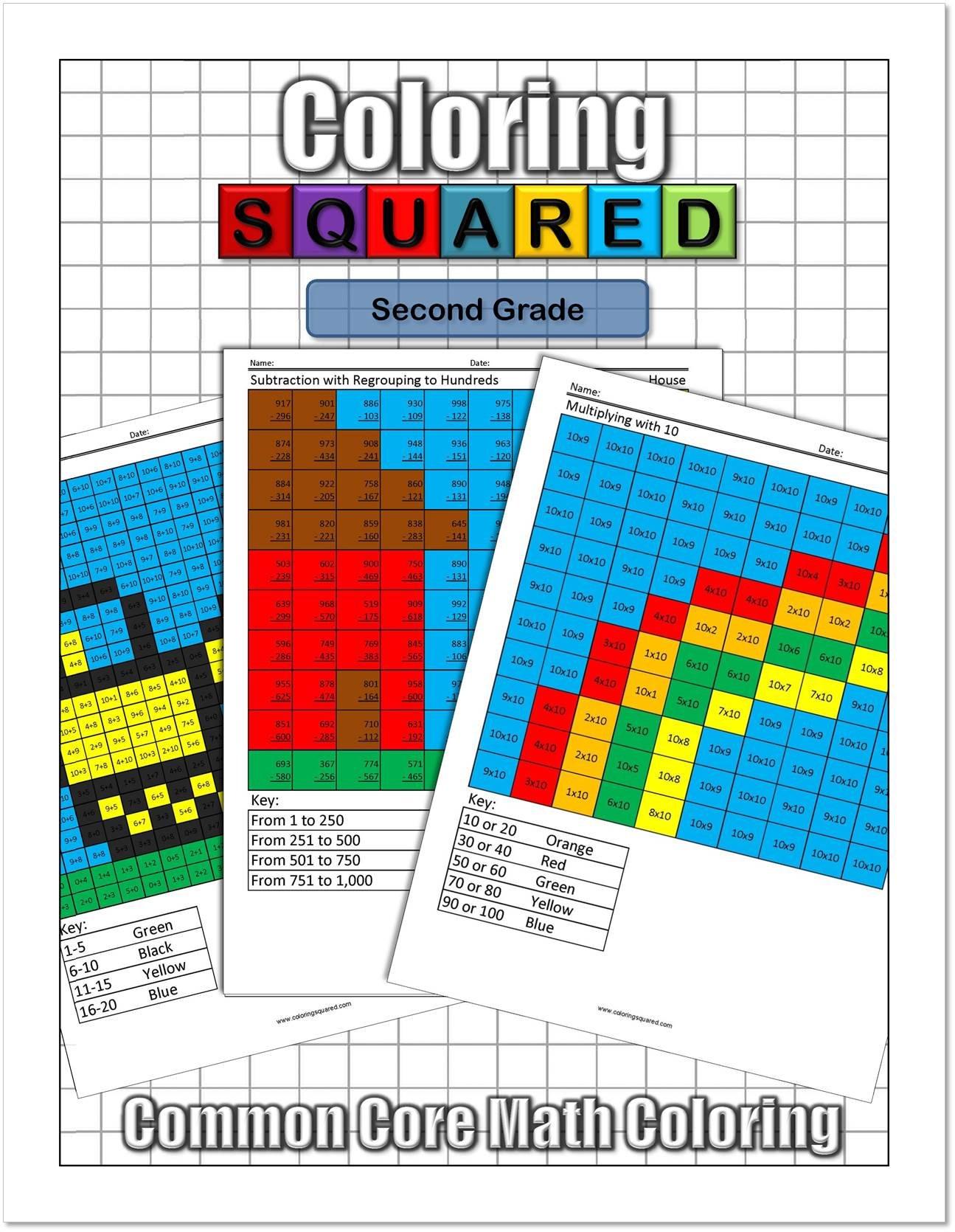 Coloring Squared: Second Grade: Cameron Krantzman: 9781939668110 ...