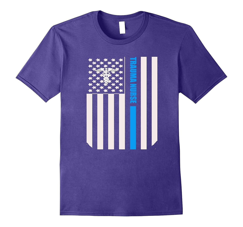 Trauma Nurse Distressed American Flag Custom Nurse Tshirt