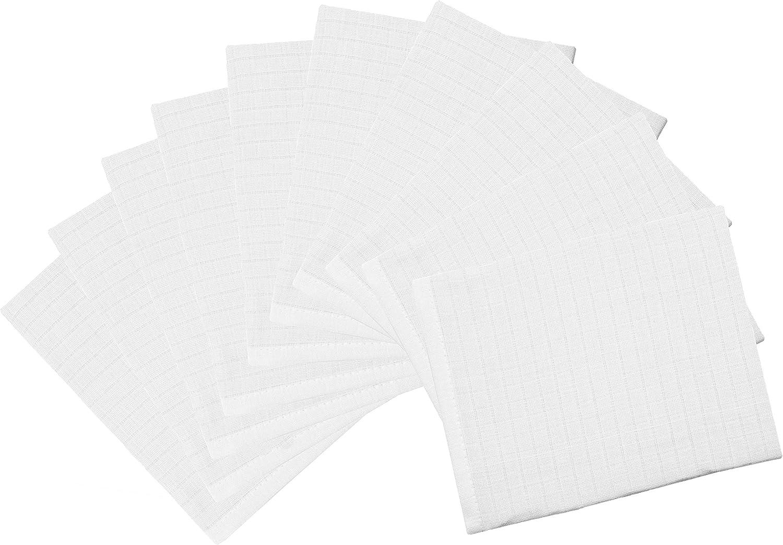 Zollner 10 manoplas de baño para bebé de muselina, blancas ...