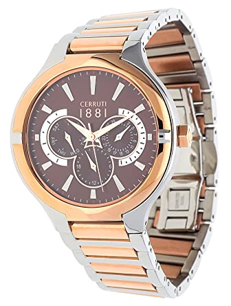9252e5f5a Buy Cerruti 1881 Analog Brown Dial Men's Watch-CRA105STR12MRT Online at Low  Prices in India - Amazon.in