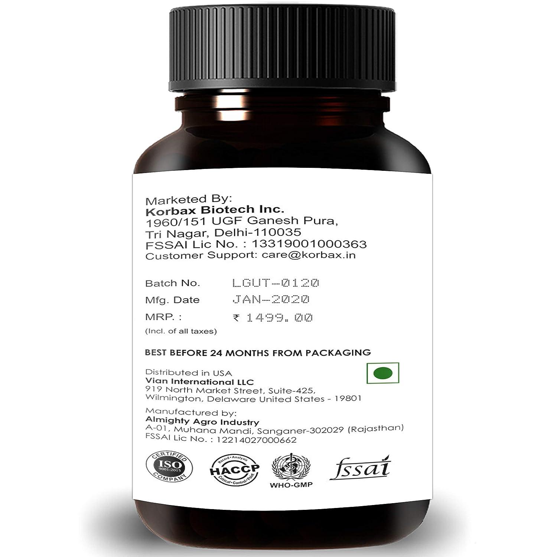 Boitech Inc Natural & Pure L Glutathione Capsules with Alpha Lipoic Acid, Grape Seeds, VItamin C and E