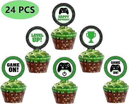 Amazon.com: Los adornos para magdalenas de videojuegos ...