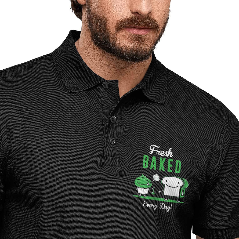 HIUHADA Chief Smoking Weed Marijuana Mans Polo T-Shirts Graphic Cotton Workout Short Sleeve Shirt