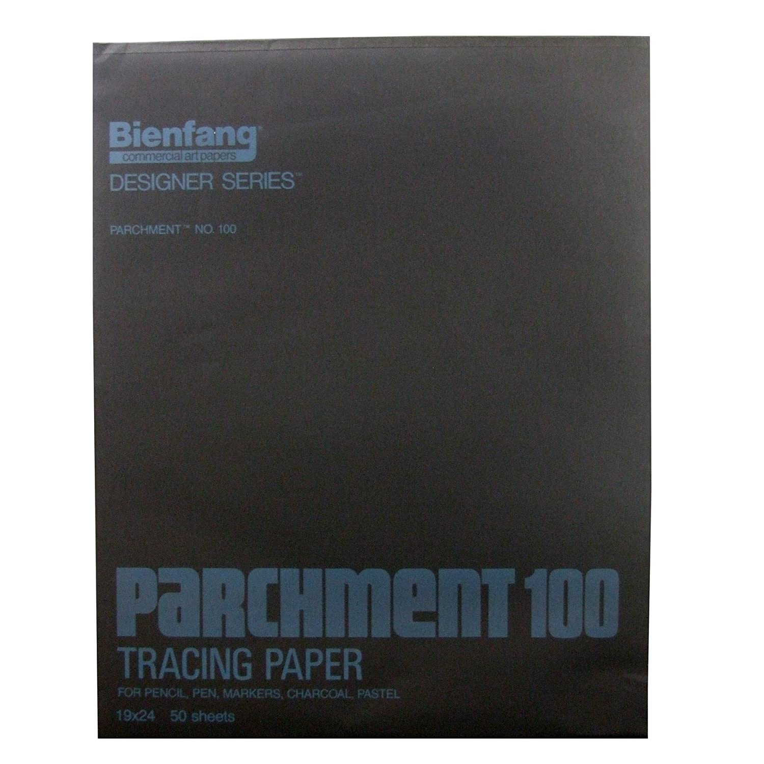 Bienfang Parchment Tracing Paper, 9 x 12 Inches, Transparent, 50 Sheets per Pad (240-121)