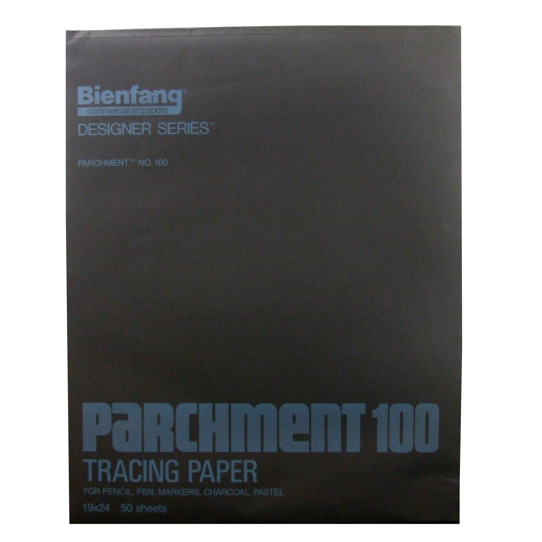 Bienfang Parchment Tracing Paper, 19 x 24 Inches, Transparent, 50 Sheets per Pad (240-161) by Bienfang