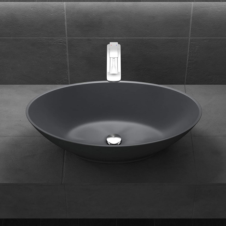 Lavabo vasque /à poser blanc mat 60cm lave main Sogood colossum-806M 51x38x12cm