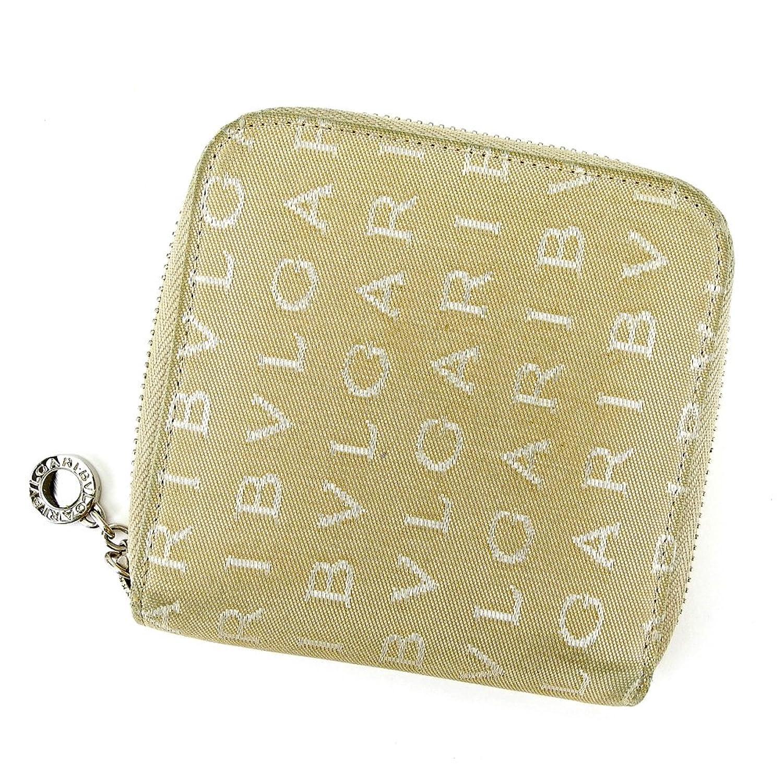 [ブルガリ] BVLGARI 二つ折り 財布 ラウンドファスナー レディース メンズ 可 ロゴマニア 中古 T4375 B0789MYGDK